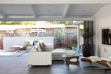truly open eichler house renovated single family house in truly open eichler house klopf architecture