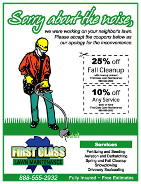 spring cleaning flyer lawn care flyer lawn care business marketing tips
