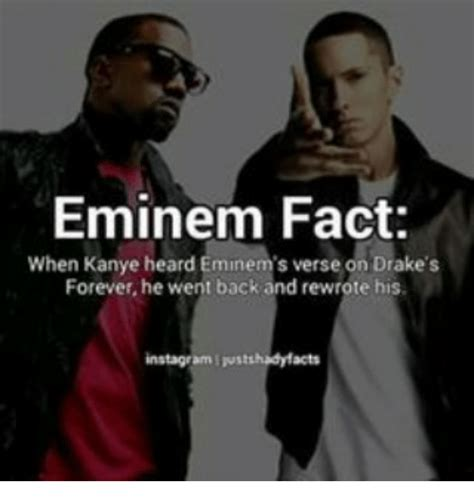Eminem Drake Meme - eminem fact when kanye heard eminem s verse on drake s