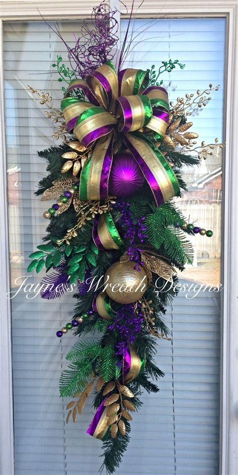 swags and wreaths mardi gras door swag wreath jayne s wreath designs on fb