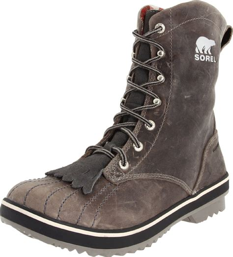 sorel womens tivoli c 18 leather boot in gray kettle