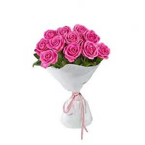 Carnations Wedding Flowers - bunch of 12 pink roses myflowergift