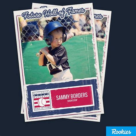 make your own baseball card create and your own of fame baseball card