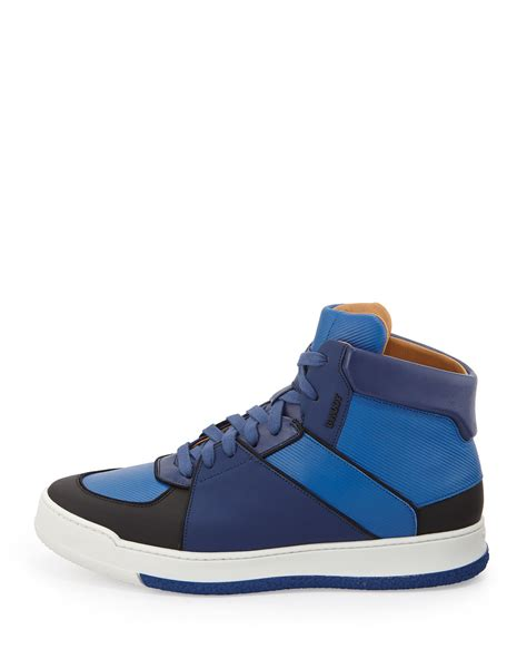 bally sneakers mens bally atsumori textured hightop sneaker in blue for lyst