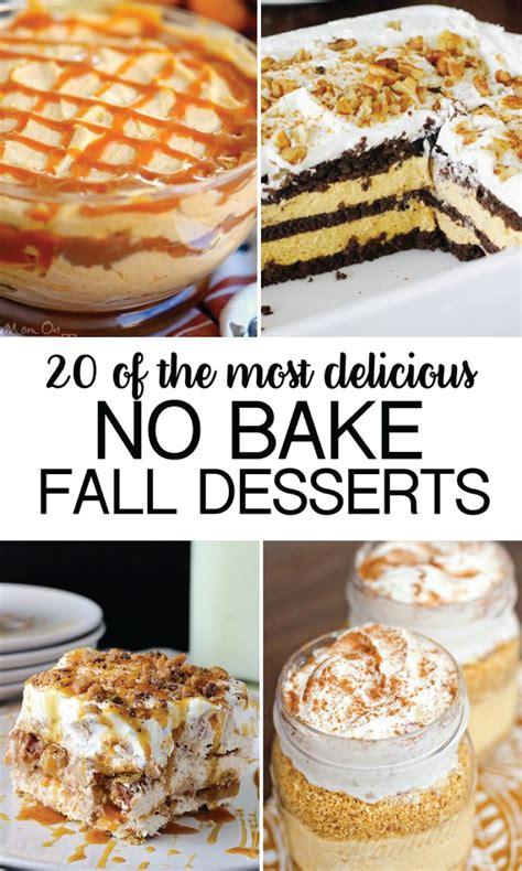 desserts fall no bake fall desserts
