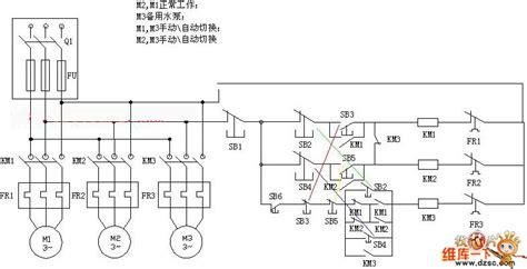 the wiring principle circuit diagram of plc