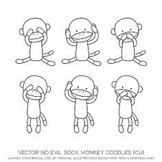 evil monkey coloring pages colouring book sock monkey printable pdf downloadable