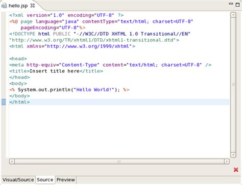 jsp template chapter 5 developing a simple jsp web application