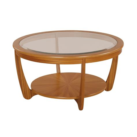 Teak And Glass Coffee Table Nathan Shades Teak Glass Top Coffee Table Dining Collections Glasswells