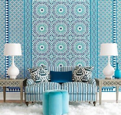 Blaue Tapete Mit Muster by Blaue Tapete Der Perfekte Hintegrund In Jedem Raum