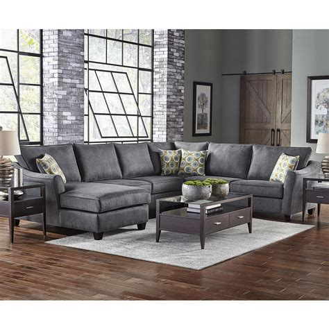 belfort furniture sectional sofas belfort essentials fleetwood 6 seat sectional sofa with