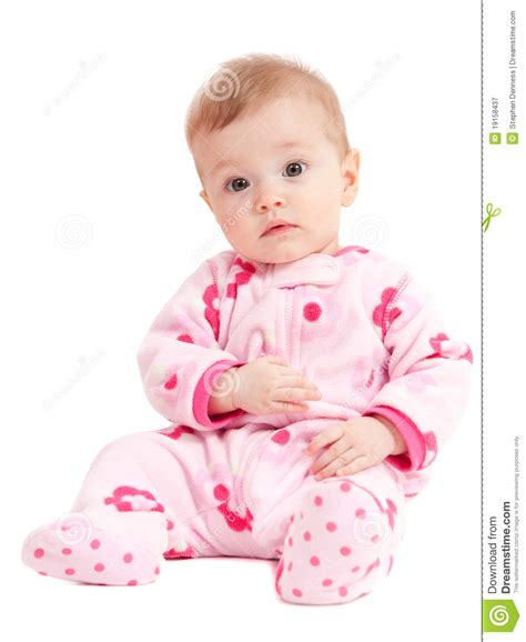 Baby Reading Pink isolated baby in pink sitting royalty free stock photography image 19158437
