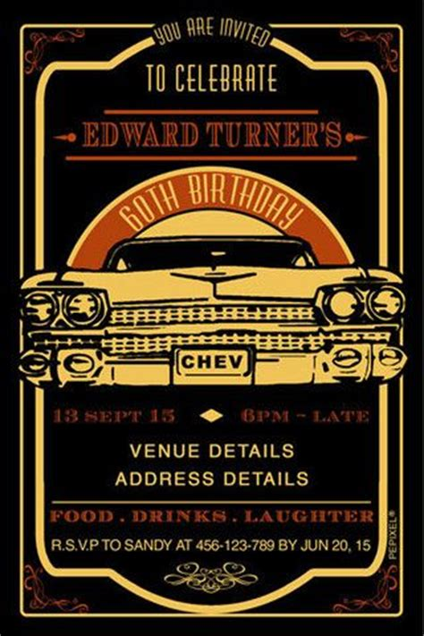 classic birthday card template 1000 images about chevy and classic cars theme on