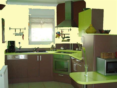 cuisine chocolat id 233 es couleur des murs pour cuisine vert amande et chocolat