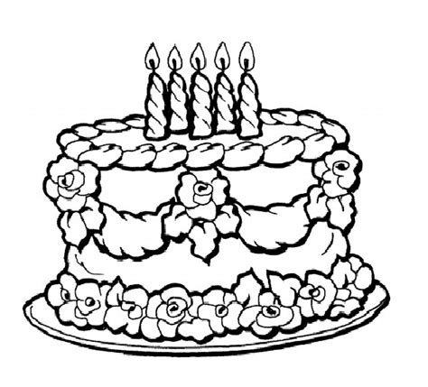 Cake Printable Coloring Pages printable cakes images to color coloring pages