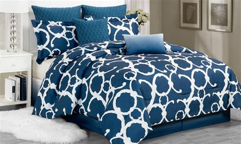 overfilled comforter 8 piece oversized and overfilled comforter sets groupon