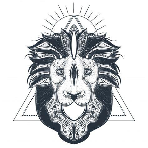 imagenes vectores leon ilustraci 243 n de vector de le 243 n cabeza l 237 nea arte