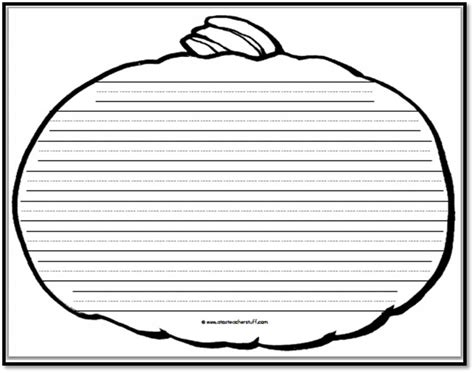 printable paper pumpkin pumpkin writing paper 8 handwriting lines a to z