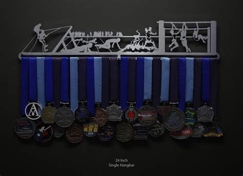Runners Medal Display Rack by Obstacle Course Sport Running Medal Displays The