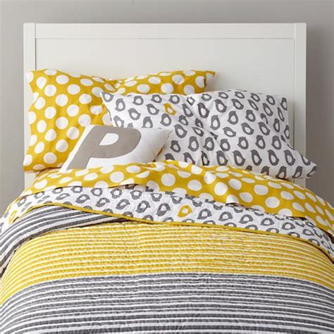land of nod bed grey yellow peep bedding the land of nod
