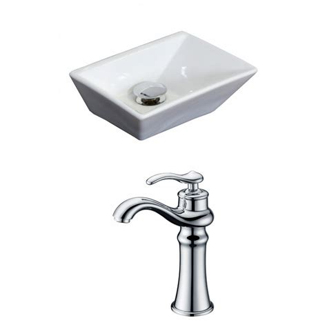 12 inch vessel bathroom sink american imaginations 12 inch w x 9 inch d rectangular vessel sink in white with deck mount