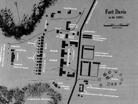 fort davis texas map nps historical handbook fort davis