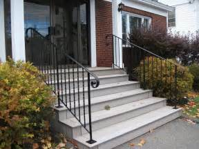 Exterior Stair Handrails Simple Outdoor Steps Ideas On Front Porch And Backyard
