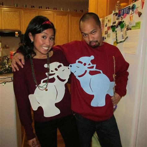 12 hilarious ugly christmas sweaters for couples oddee