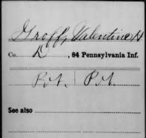 Pennsylvania Records Index Civil War 187 The Groff Brothers Hiram William