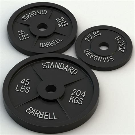 Barbel Standar standard olympic barbell 3d model