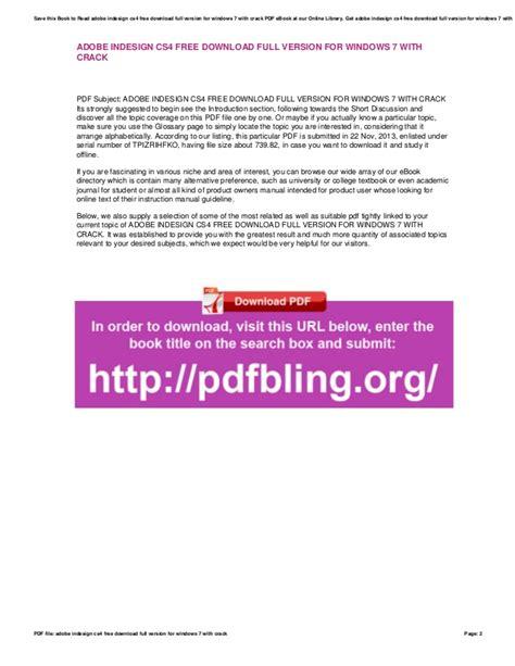 adobe indesign full version free download adobe indesign cs4 free download full version for windows