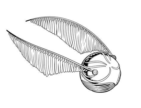 Harry Potter Golden Snitch Coloring Page Coloring Pages