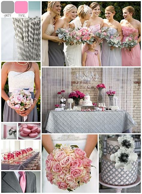 grey pink wedding theme grey and pink wedding colors married