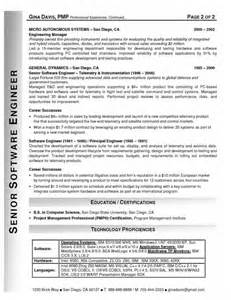 best resume sles for software engineers resume sles