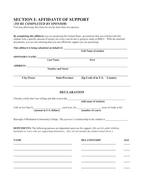 general affidavit form best photos of template exle a