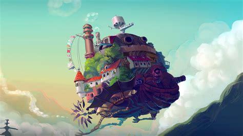 studio ghibli castle anime peace art illustration