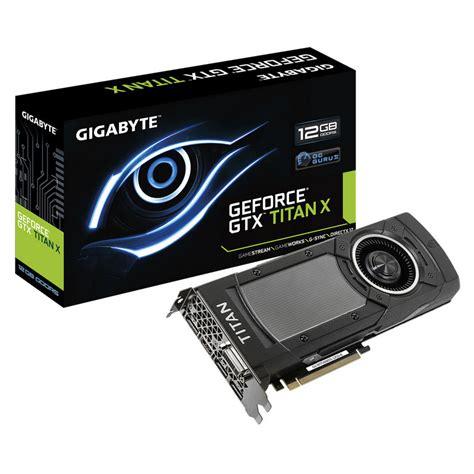 Vga Card Gtx Titan gigabyte geforce gtx titan x 12gb gddr5 ebay