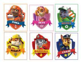6 paw patrol stickers party supplies favors labels gifts