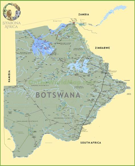 africa map botswana large detailed map of botswana
