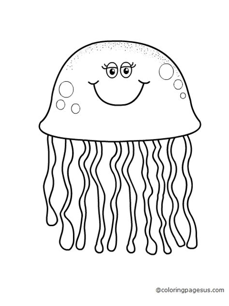 coloring pictures of jelly fish new jellyfish coloring page cool and best idea 2772 unknown resolutions free printable