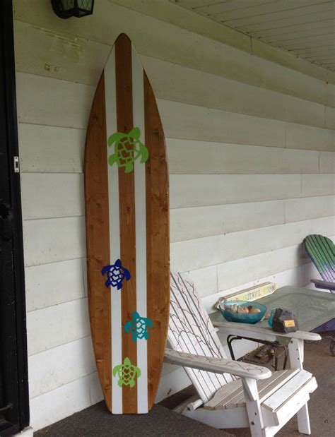 surfboard wall art home decorations 6 foot wood turtles hawaiian surfboard wall art decor or
