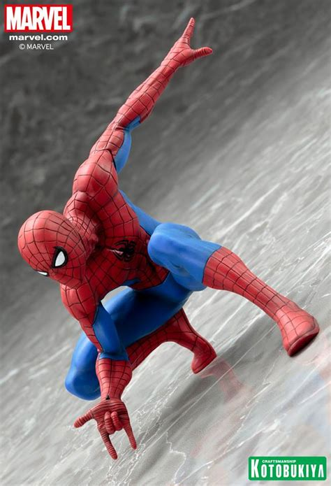 Spiderman Curtains Kotobukiya Spider Man Artfx Statue Photos Amp Order Info