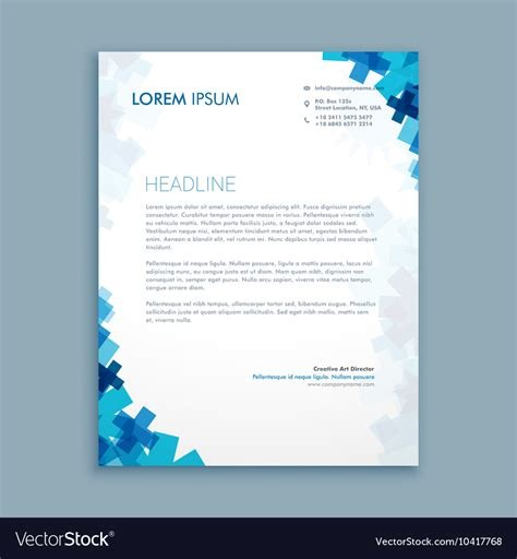 business letterhead design vector business style corporate letterhead design vector image