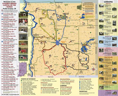 covered bridges in map indiana covered bridge map indiana map