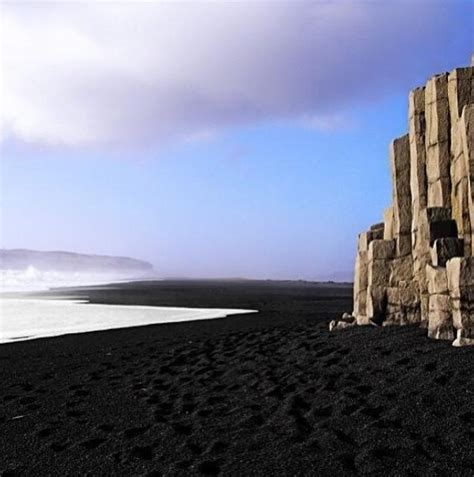 black sand beach iceland black sand beach in iceland cliff by the sea pinterest