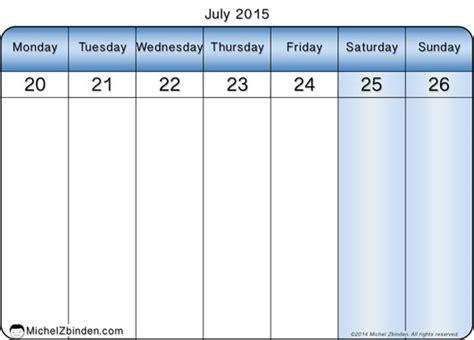 Printable Calendar Weekly December 2014 7 Best Images Of Weekly Calendar Printable July December