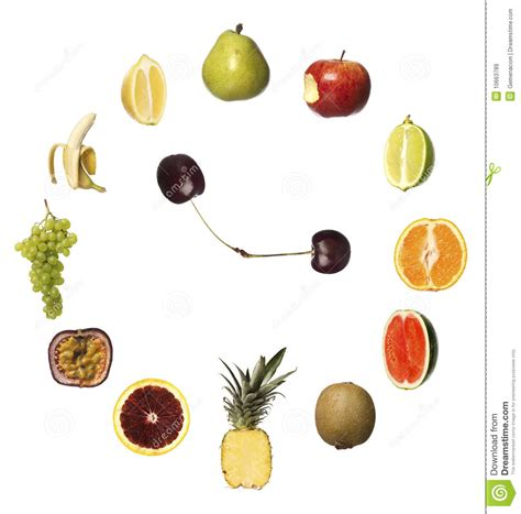 Fruit Clock by Fruit Clock Royalty Free Stock Images Image 10663789