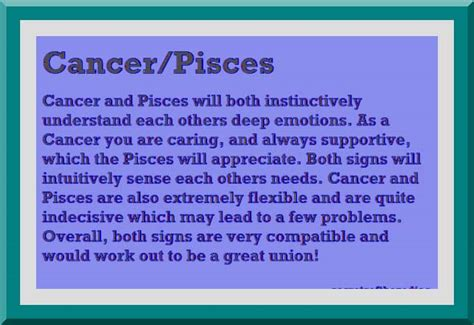 cancer and pisces relationship image of an astrological