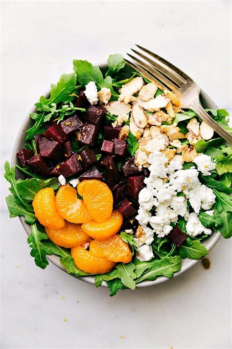 goat cheese salad roasted beet and goat cheese salad with orange vinaigrette