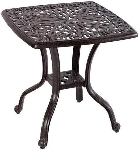Cast Aluminum Patio Side Tables Alfresco Home Weave Cast Metal Patio Side Table